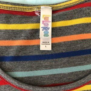LulaRoe Classic Tee T-shirt Size L Rainbow